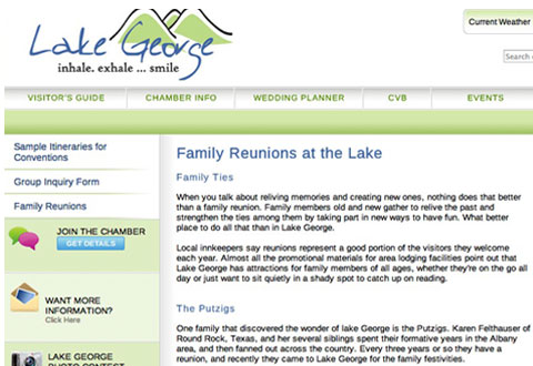 image of lake george chamber