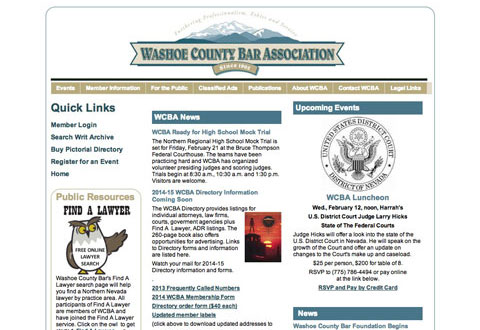 image of washoe county bar association website